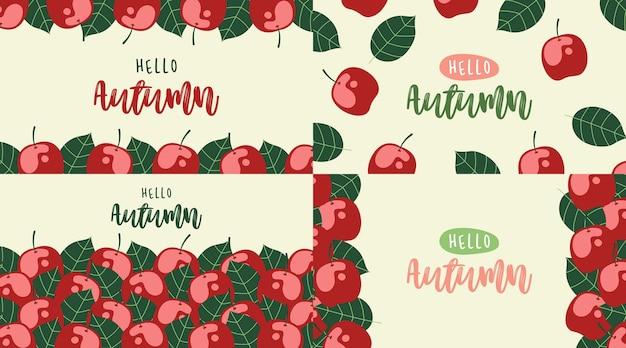 Ciao autunno sfondo illustrazione vettoriale autunno banner web e sfondo volantino