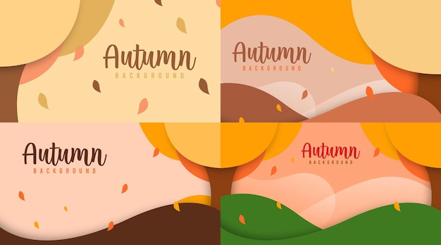 Ciao autunno sfondo illustrazione vettoriale. banner web e volantino autunnale