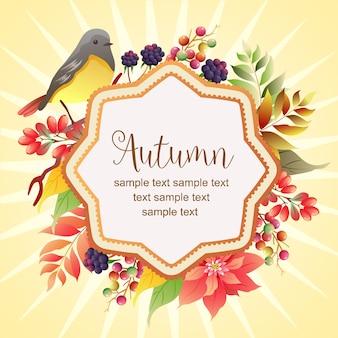 Ciao autunno colorato autunno canto degli uccelli