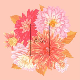 Ciao autumn floral design. sfondo floreale autunnale stagionale