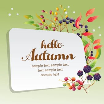 Ciao autunno con pianta di stagione