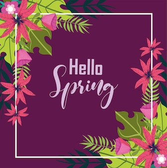 Ciao sfondo di primavera