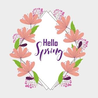 Ciao cornice di primavera