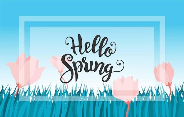 Ciao primavera scritta a mano