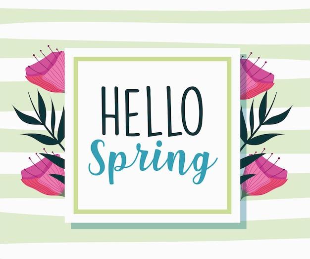 Ciao etichetta di primavera