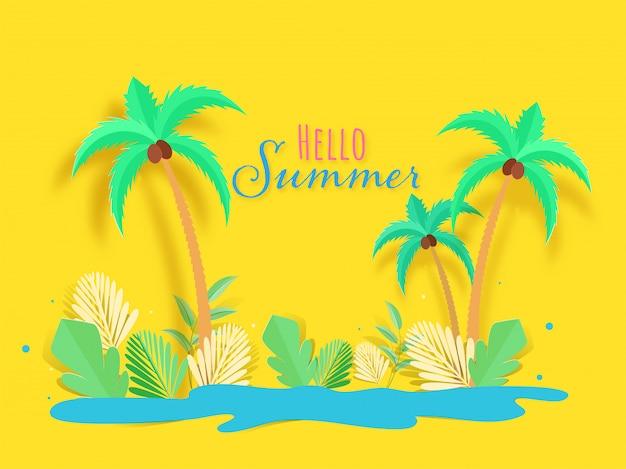 Ciao estate sfondo.
