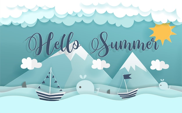 Ciao concetto di estate