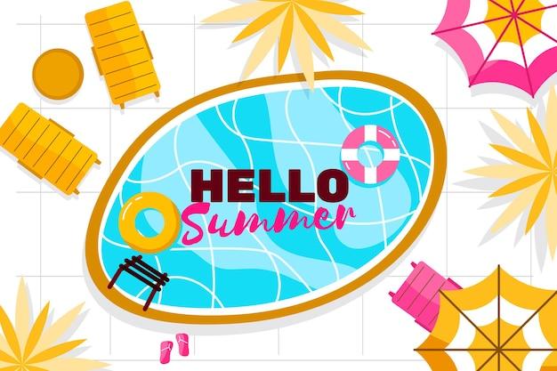 Ciao estate con l'essenziale per la piscina