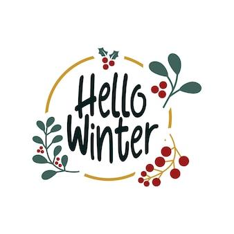 Ciao citazioni tipografiche scritte invernali