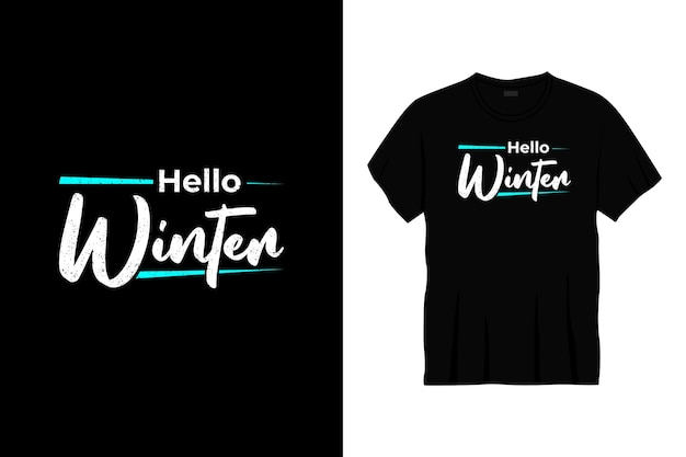 Ciao design t-shirt tipografia invernale
