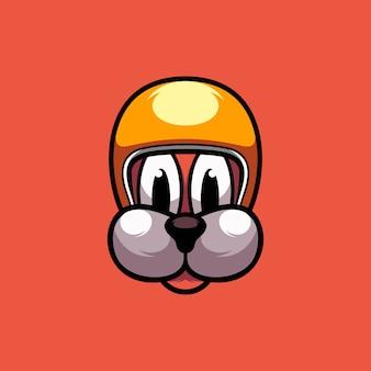 Illustrazione di disegno del cane del casco