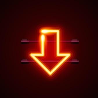 Heon segno freccia inferiore insegna, illustrazione vettoriale