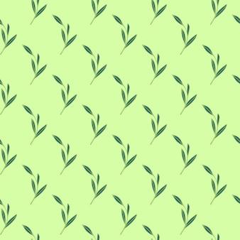 Modello senza cuciture a base di erbe con foglie di foglie di contorno semplici forme