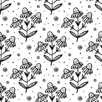 Erbe, piante da giardino. seamless pattern