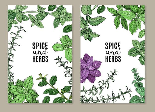 Banner di erbe e spezie
