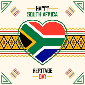 Illustrazione del sudafrica di giorno di eredità