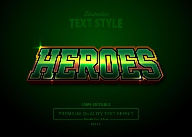 Heroes illustrator effetto testo