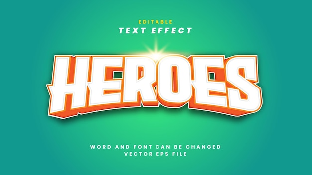 Effetto testo heroes