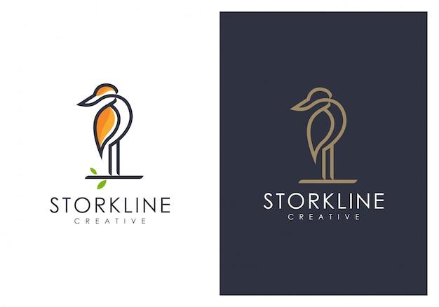 Versione della linea logo heron