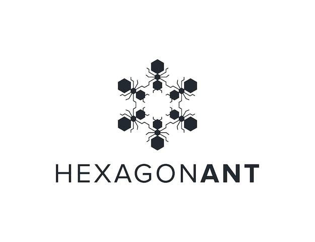 Formiche esagonali rotazione semplice elegante creativo geometrico moderno logo design