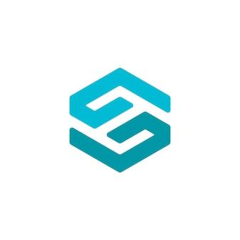 Hexagon mano a mano aiuta il logo di beneficenza