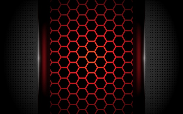 Esagono moderno sfondo rosso