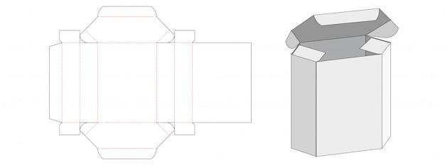 Scatola da imballaggio esagonale fustellata