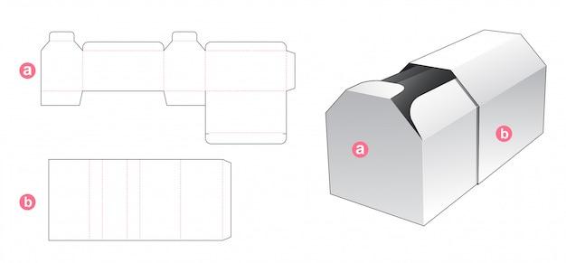 Scatola sagomata a forma esagonale e copertina fustellata