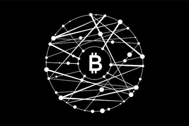 Esagono con linee collegate per logo, etichetta, emblema, marchio del simbolo del blocco del contratto intelligente. design per transazioni decentralizzate