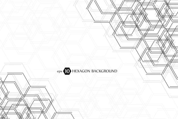 Sfondo geometrico esagonale. presentazione aziendale per il tuo design e testo. concept grafico minimale. eps 10 illustrazione vettoriale d'archivio.
