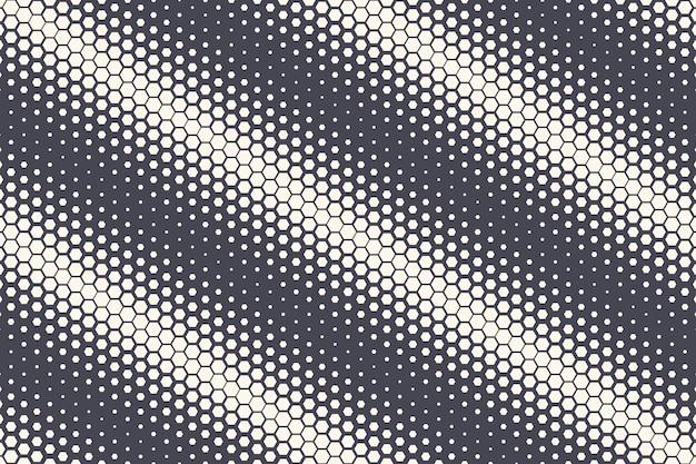 Struttura geometrica di struttura di semitono esagonale abstract background