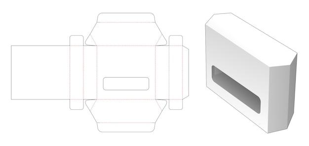 Scatola di latta esagonale modello fustellato
