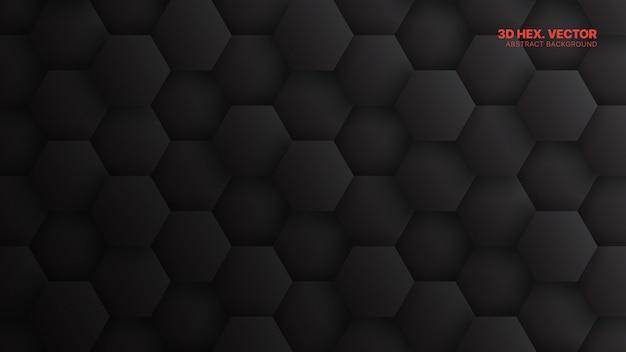 Modello di esagoni sfondo astratto tecnologia grigio scuro minimalista