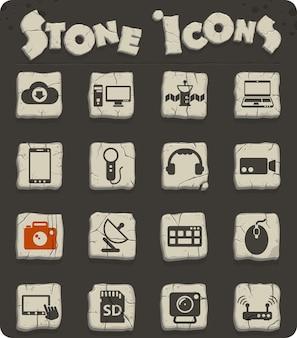 Icone vettoriali ad alta tecnologia per il web e la progettazione dell'interfaccia utente
