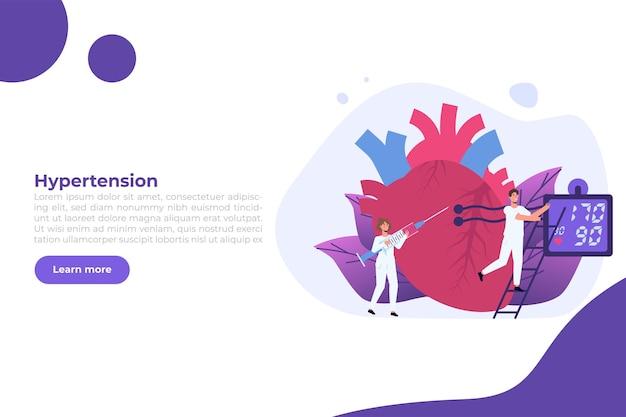 Alta pressione sanguigna, malattia di ipertensione.