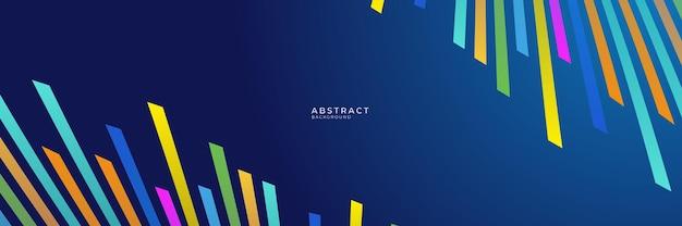 Sfondo aziendale futuristico blu e colorato ad alto contrasto