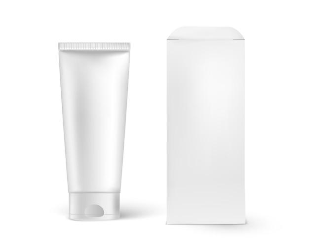 Confezione cosmetica alta realistica e dettagliata