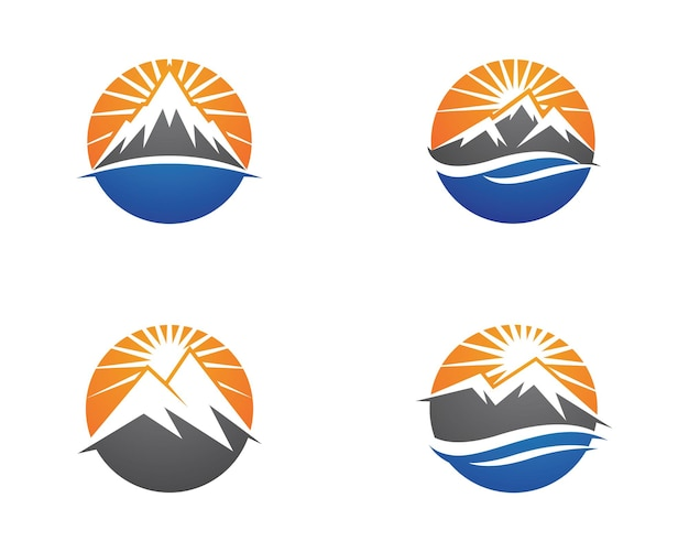 Icona di alta montagna logo business template vector