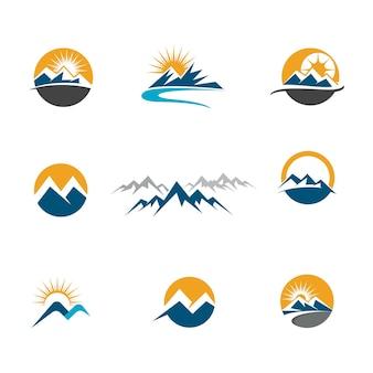 Modello di icona di alta montagna disegno di illustrazione vettoriale
