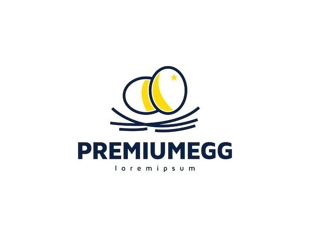 Disegno dell'illustrazione del logo delle uova di alta qualità