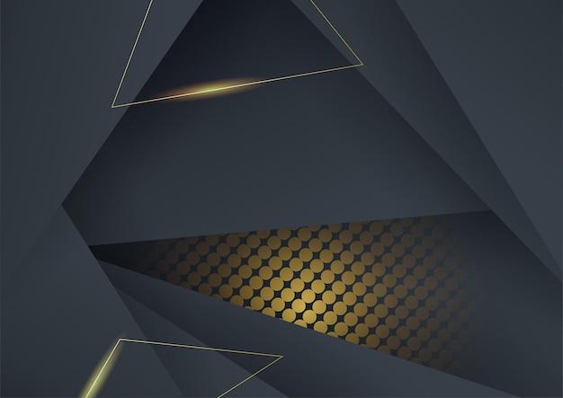 Fondo oro nero di lusso di alta qualità con concetto di tecnologia aziendale minimalista