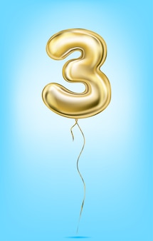 Immagine vettoriale di alta qualità di numeri di palloncino d'oro