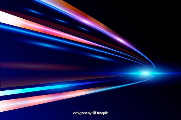 Sfondo di luci ad alta velocità