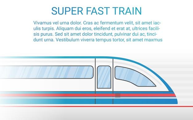 Concetto di treno ferroviario moderno ad alta velocità.