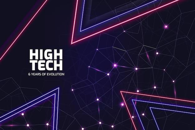 Sfondo al neon ad alta tecnologia