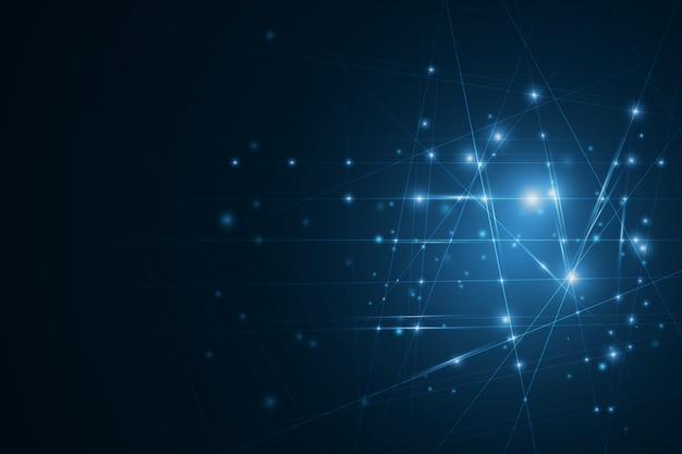 Rete neurale ad alta tecnologia cellule collegate con collegamenti