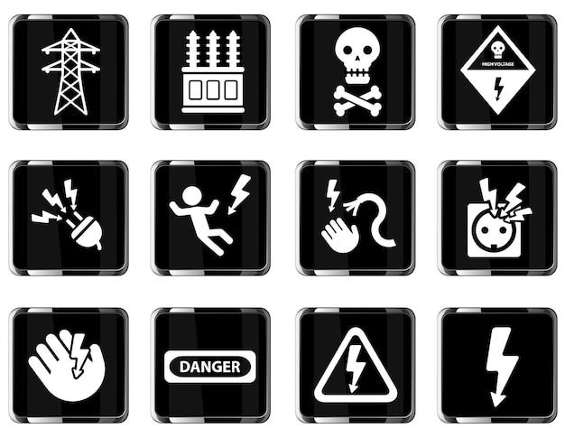 Semplice simbolo ad alta tensione per le icone web