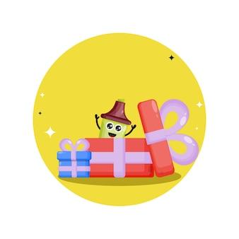 Evidenziatore regalo di compleanno simpatico personaggio mascotte