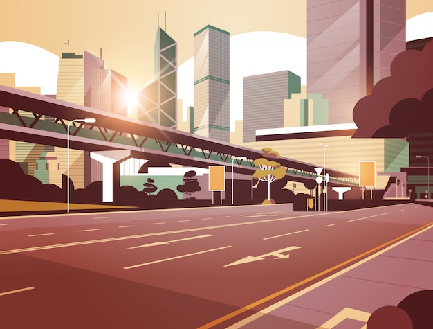 Strada statale per la città