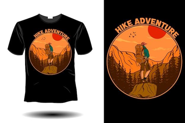 Escursione avventura mockup design vintage retrò